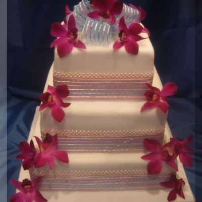 Orchid Square Stacked on Cake Central