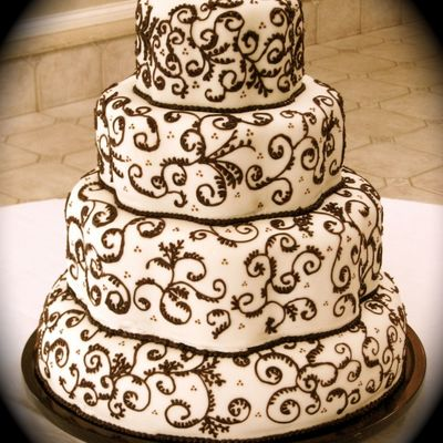 My Version Of Martha Stewart's Chocolate Scrollwork Cake on Cake Central