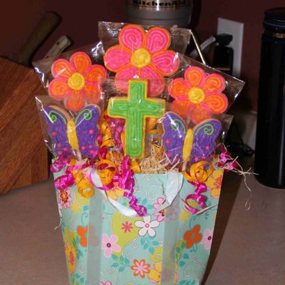 First Communion Cookie Bouquet