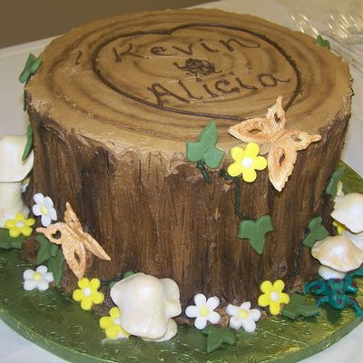 I Love You Stump Cake