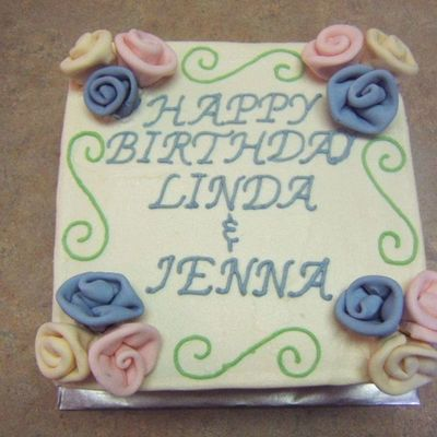 Linda And Jenna's Birthday Cake