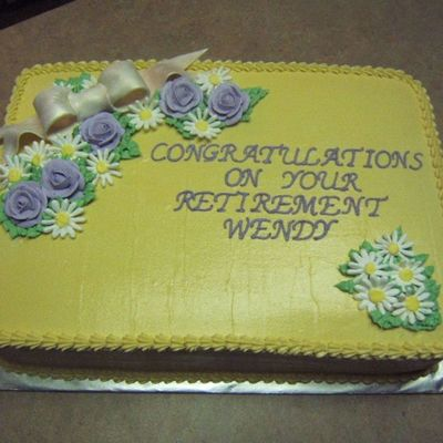 Wendy's Retirement Cake