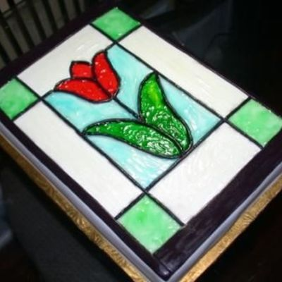 Tulip Stained Glass Cake