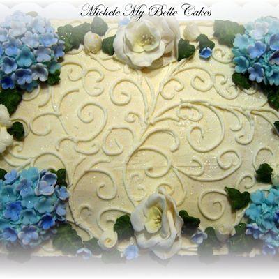 Buttercream hydrangea Cake Decorating Photos