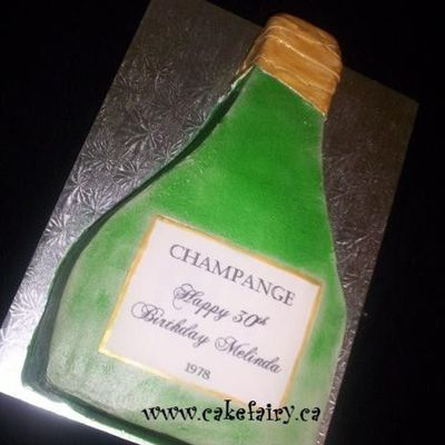 Champagne Bottle For 30Th Birthday