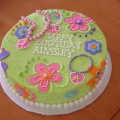 Flowers And Beads on Cake Central
