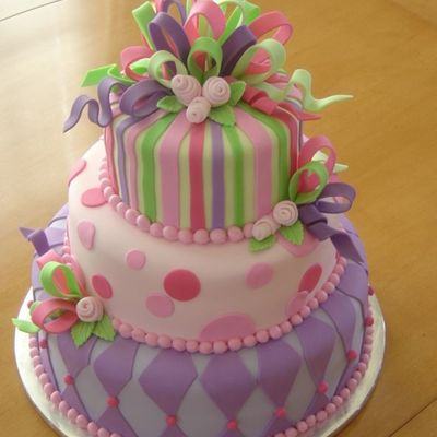 Pink And Purple Baby Shower on Cake Central