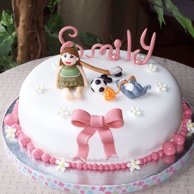 Magnificent Birthday Cake For 8 Year Old Girl Cakecentral Com Funny Birthday Cards Online Chimdamsfinfo