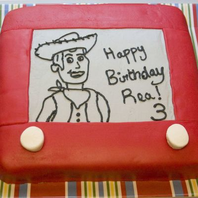 Toy Story Etch-A-Sketch Woody Cake