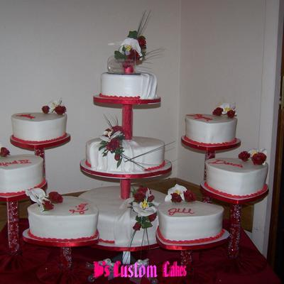 Rose And Orchid Wedding on Cake Central