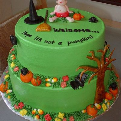 Halloween Baby Shower on Cake Central