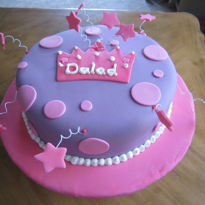 Purple Princess Cake With Stars