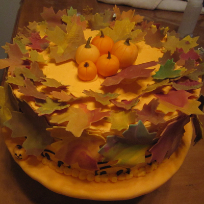 Fall-Themed Cake