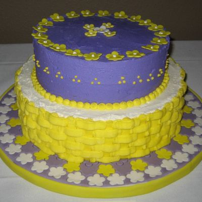 Yellow-Purple Cake