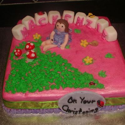Christening Fairy Cake on Cake Central
