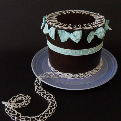 Chocolate Crocheted Cake