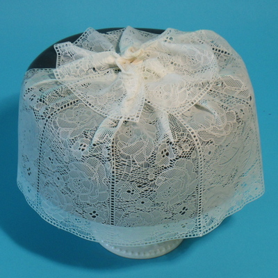 White Lace Rose Cake