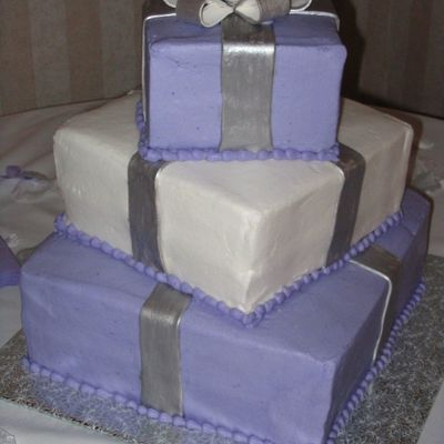 Square Package Wedding Cake