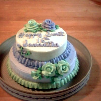 Green And Purple on Cake Central