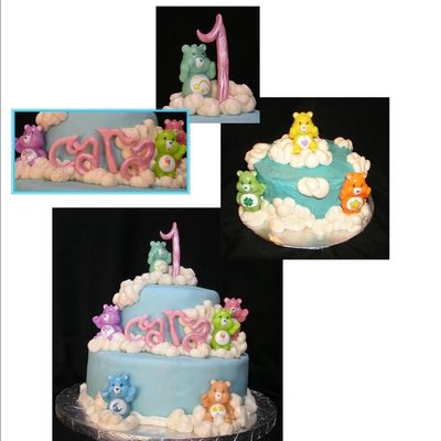 Care Bear First Birthday Cake And Smash Cake on Cake Central