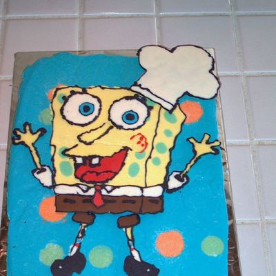 Spongebob Chocolate Transfer Done By My Son