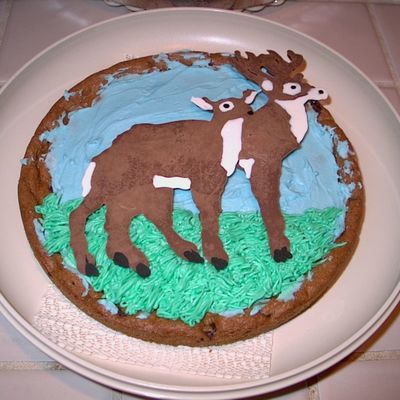 My Son's Decorated Chocolate Chip Cookie - State Fair Entry
