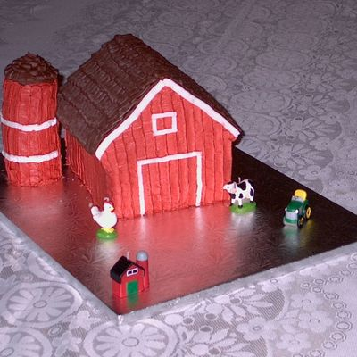 1St Birthday Barn Cake
