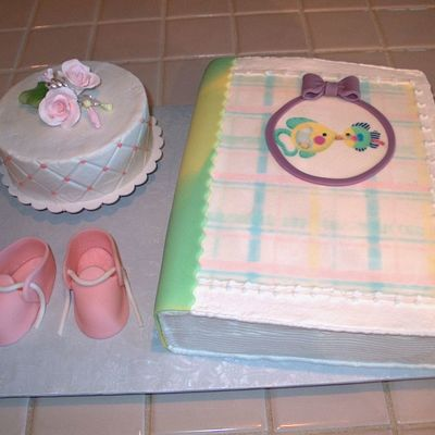 Baby Book Shower Cake