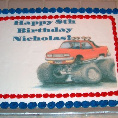 Monster Truck Birthday Cake