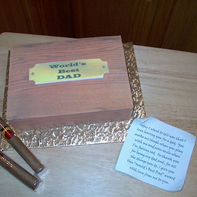 World's Best Dad Humidor Cake