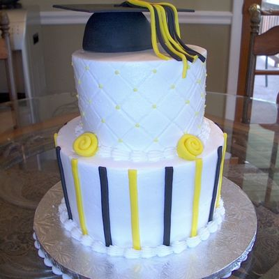 Slightly Whimsical Graduation Cake
