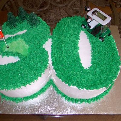 Golf 30Th Birthday Cake