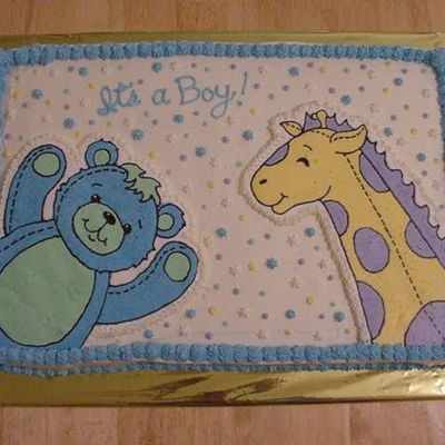 Baby Bear And Giraffe on Cake Central