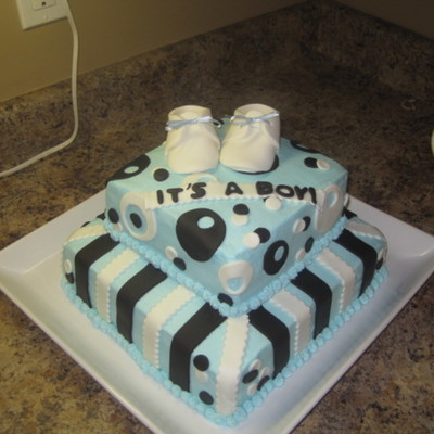 Baby Shower Brown And Blue