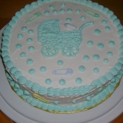 Simple Baby Show Cake