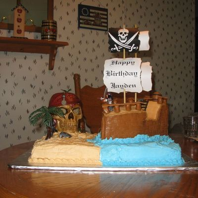 Another Angle Of Ship Cake