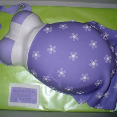 Lavender Belly Cake