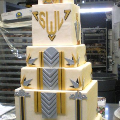 Art Deco Bday Cake