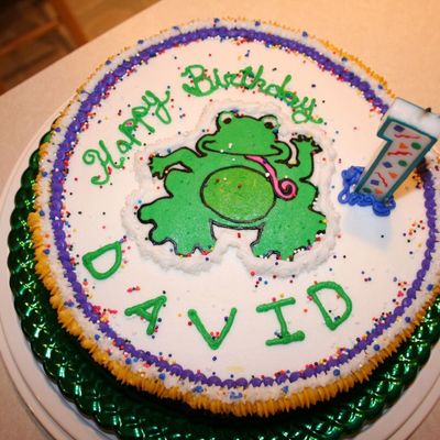 Baby Einsteins' Frog First Birthday Cake