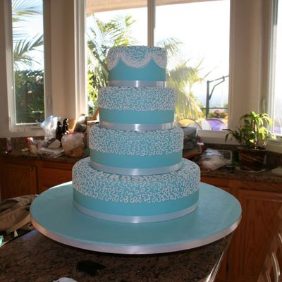 Tiffany Blue Cake Without The Extension Work