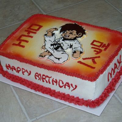 Martial Arts Boy Cake