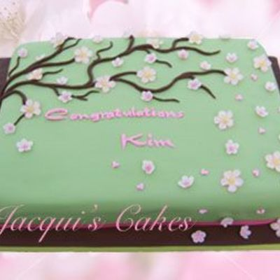 Cherry Blossom Sheet Cake