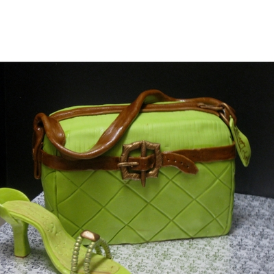 Green And Brown Purse & Shoe on Cake Central