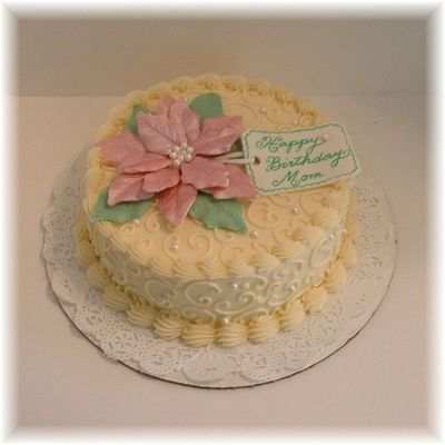 Poinsettia Birthday Cake on Cake Central
