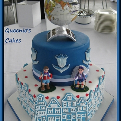 Dutch/travel Themed Cake/cupcakes/cookie Favours