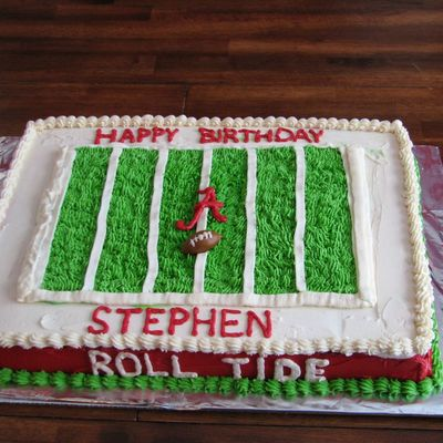 University Of Alabama Football Birthday Cake