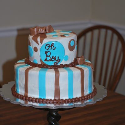 Blue & Brown Baby Shower