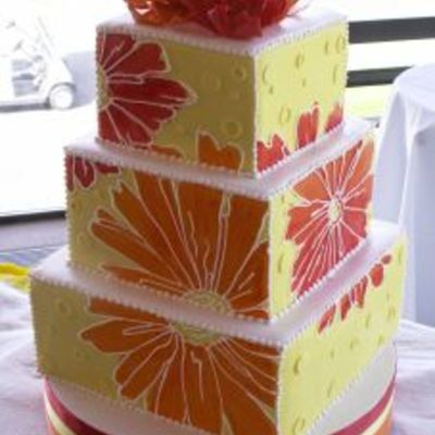 Funky Floral on Cake Central