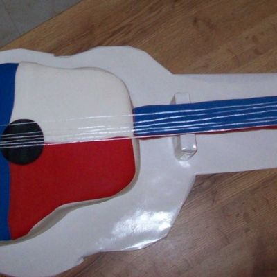 Texas Themed Guitar