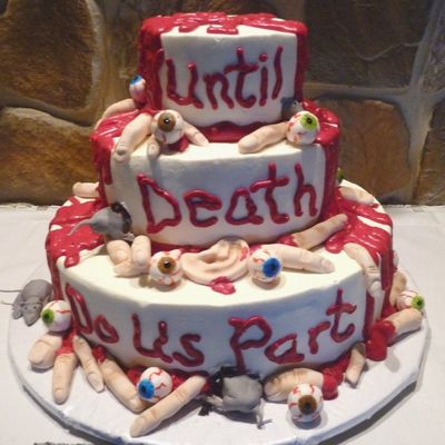 Halloween Wedding Cake With Body Parts